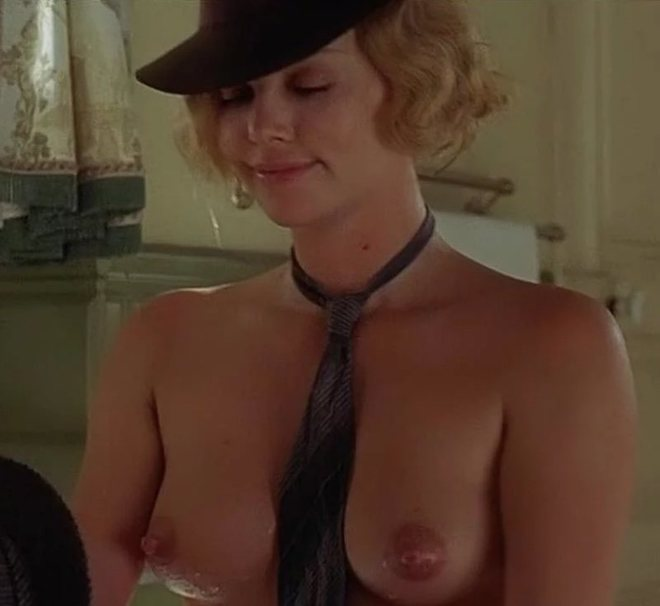 Charlize theron tits