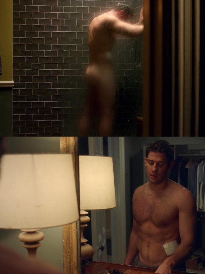John Krasinski shows his butt and toned abs in a scene from 'Jack Ryan'