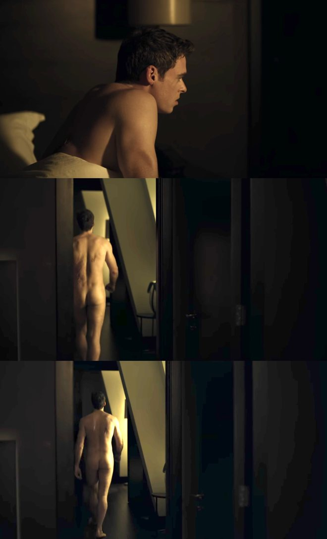 Richard Madden nude in a scene from 'Bodyguard'