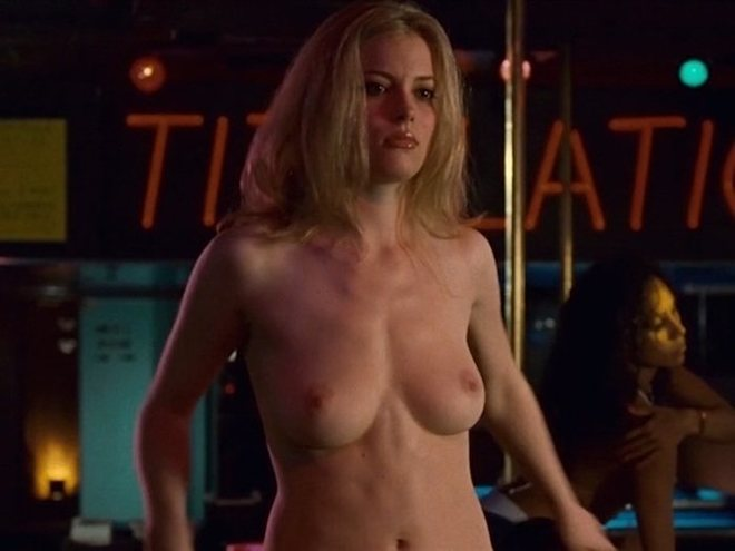 Gillian Jacobs shows her breasts in a scene from 'Choke'