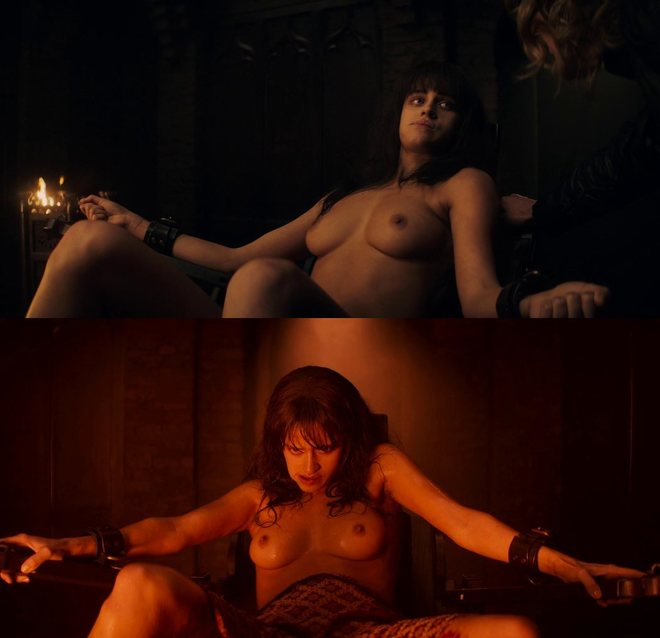 Anya Chalotra naked showing her breasts in 'The Witcher'