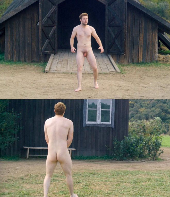 Jack Reynor naked showing his penis and bottom in 'Midsommar'