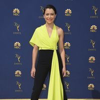 Tatiana Maslany on the red carpet at the Emmys 2018