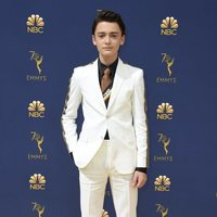 Noah Schnapp at the Emmys 2018 red carpet