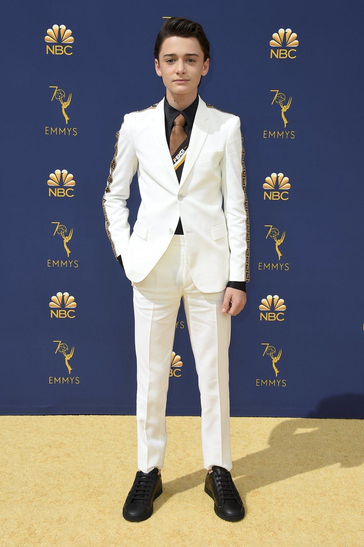 Noah Schnapp at the Emmys 2018 red carpet
