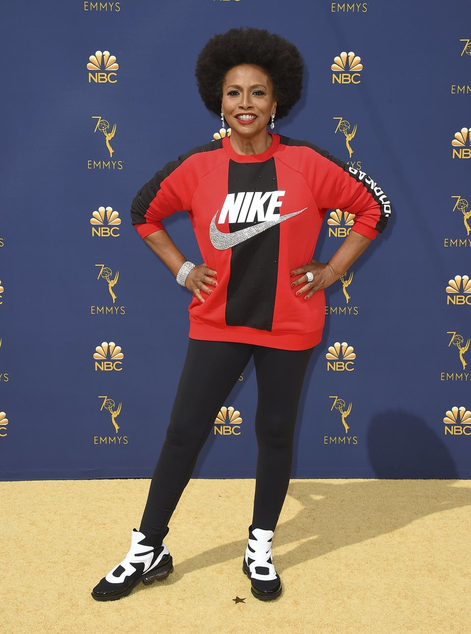 Jenifer Lewis on the red carpet at the Emmys 2018