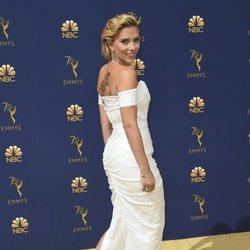 Scarlett Johansson at the Emmys 2018 red carpet