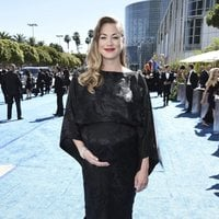 Yvonne Strahovski on the red carpet at the Emmys 2018