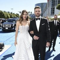 Jessica Biel and Justin Timberlake at the Emmys 2018 red carpet