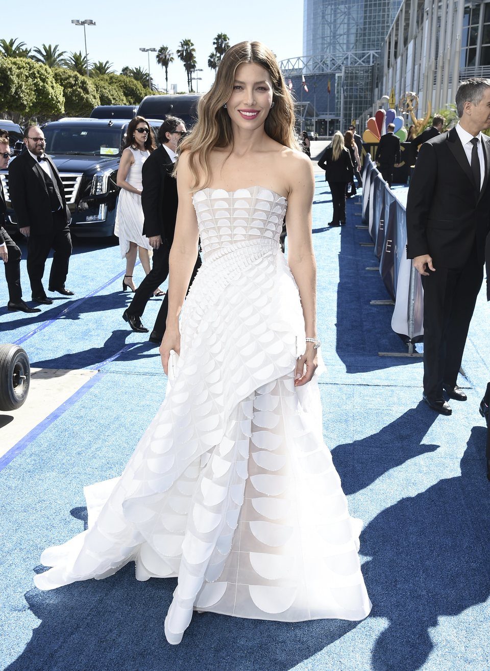 Jessica Biel at the Emmys 2018 red carpet