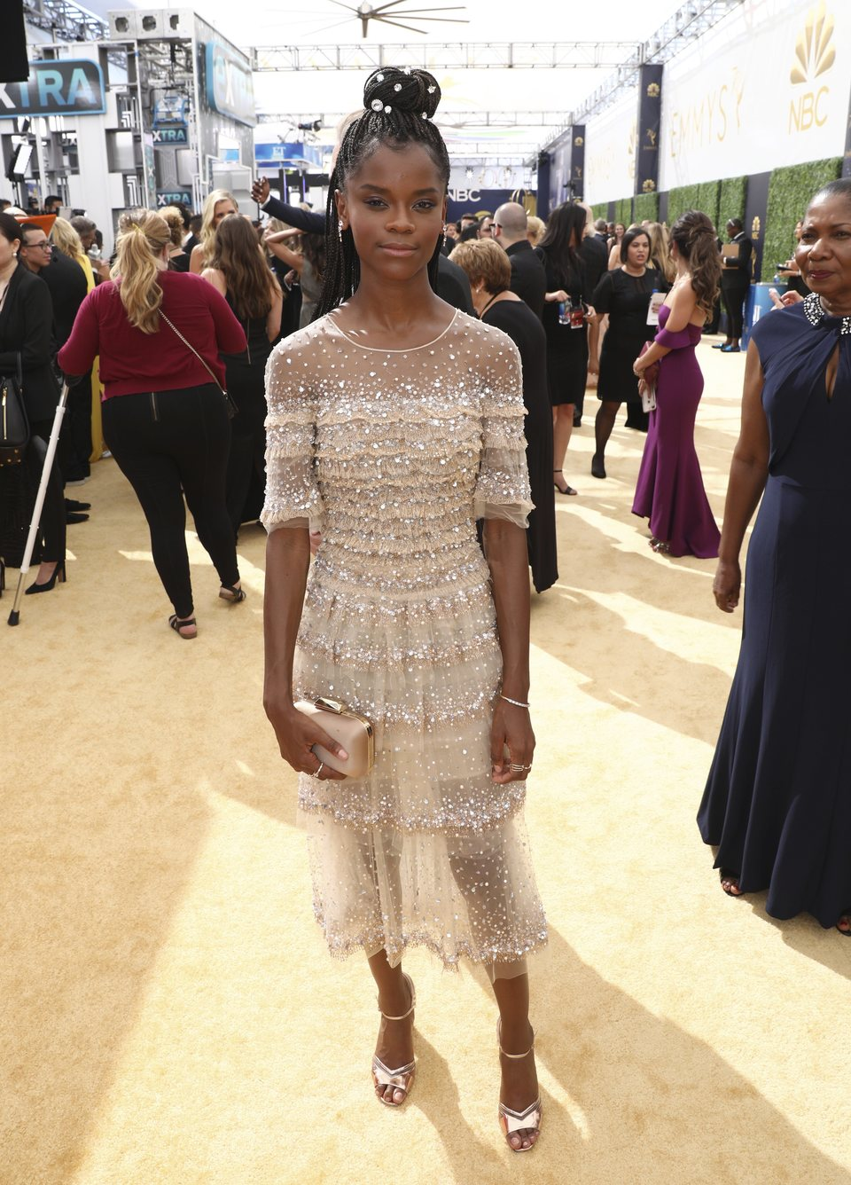 Letitia Wright on the red carpet ate the Emmys 2018