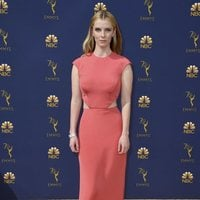 Betty Gilpin on the red carpet at the Emmys 2018