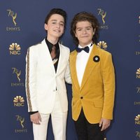 Gaten Matarazzo and Noah Schnapp at the Emmys 2018
