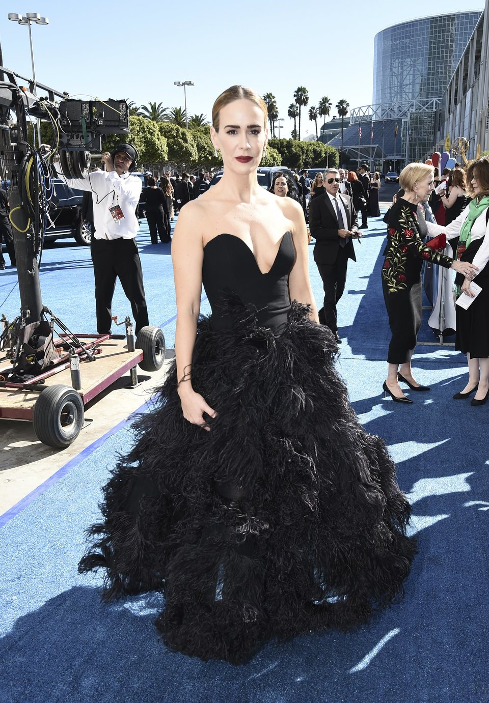 Sarah Paulson on the red carpet at Emmys 2018