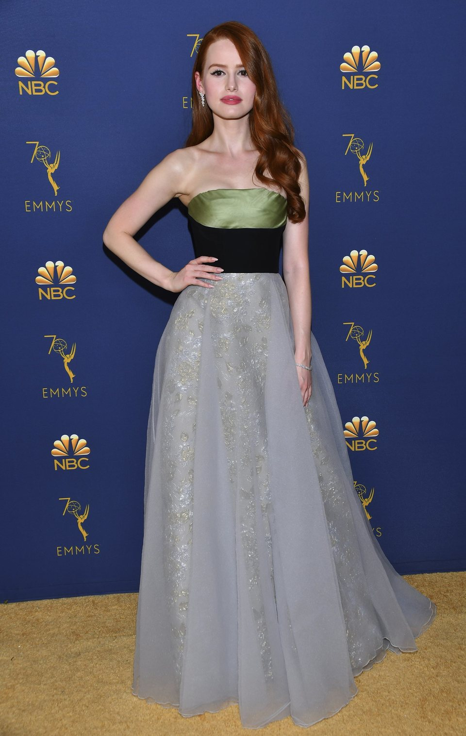 Madelaine Petsch on the red carpet at the Emmys 2018