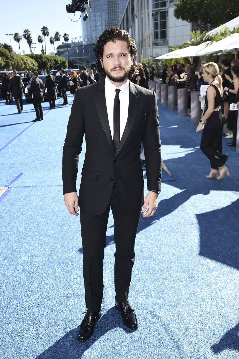 Kit Harington at the Emmys 2018 red carpet
