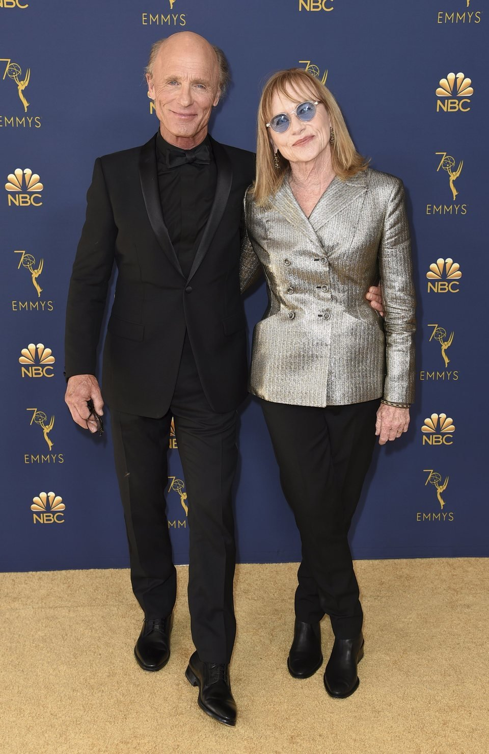 Ed Harris and Amy Madigan on the red carpet at the Emmys 2018