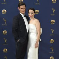Matt Smith and Claire Foy at the Emmys 2018 red carpet