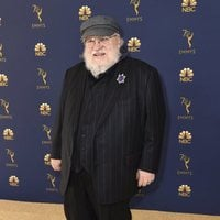 George R.R. Martin at the Emmys 2018 red carpet