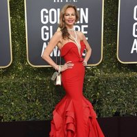Margaret Gardiner at the Golden Globes 2019 red carpet
