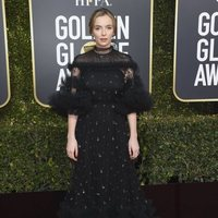Jodie Comer at the Golden Globes 2019 red carpet