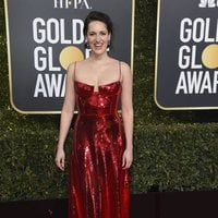 Phoebe Waller-Bridge on the red carpet at the Golden Globes 2019