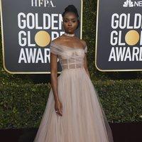 Kiki Layne at the Golden Globes 2019 red carpet