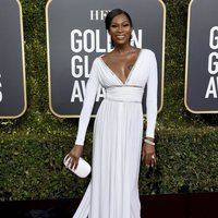 Dominique Jackson at the Golden Globes 2019 red carpet