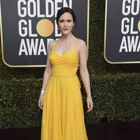 Rachel Brosnahan at the Golden Globes 2019 red carpet