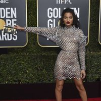 Indya Moore at the Golden Globes 2019 red carpet
