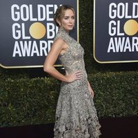 Emily Blunt on the red carpet at the Golden Globes 2019