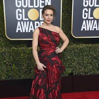 Alyssa Milano on the red carpet at the Golden Globes 2019