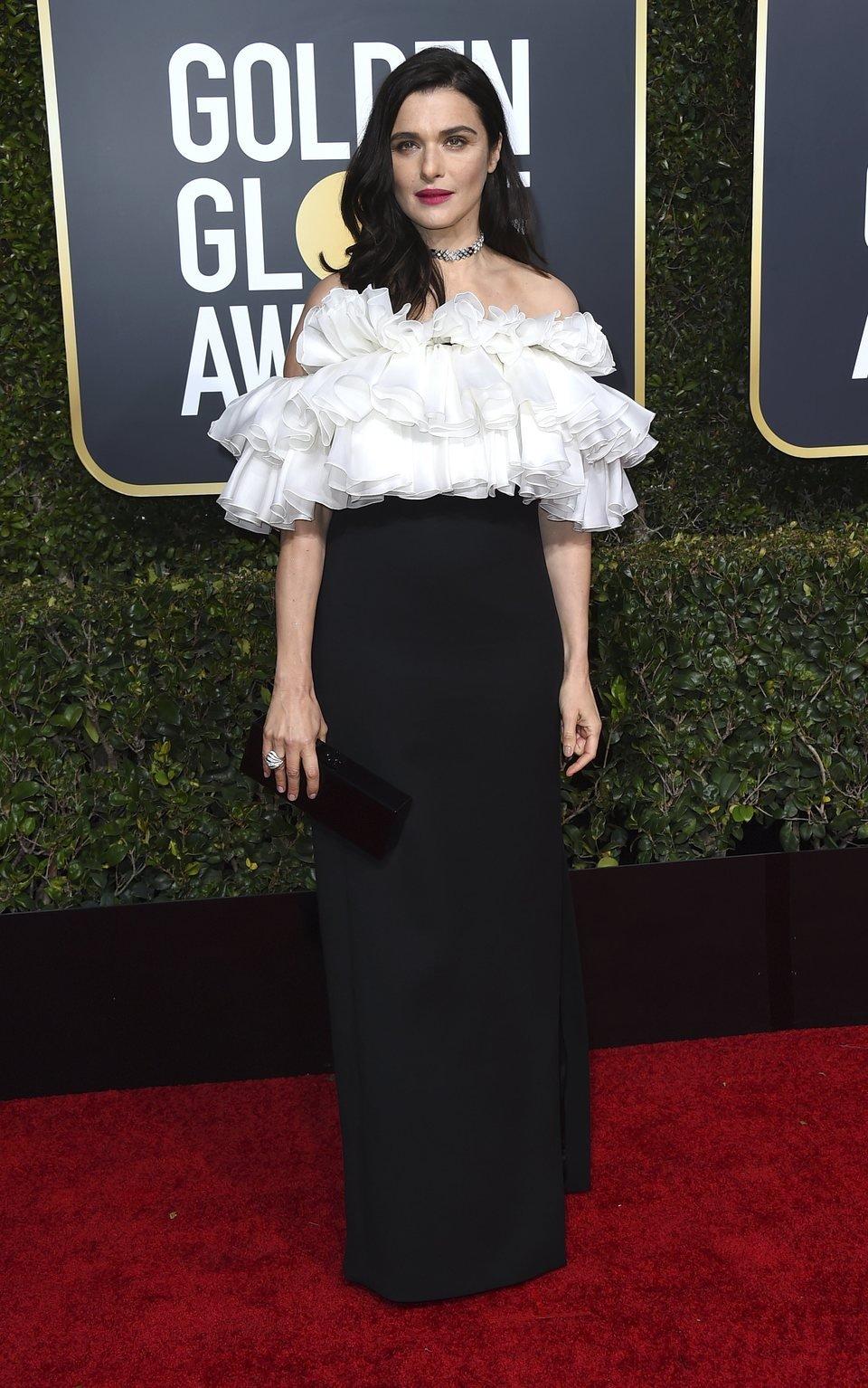 Rachel Weisz at the Golden Globes 2019 red carpet