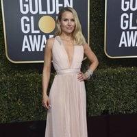Kristen Bell at the Golden Globes 2019 red carpet