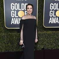 Olivia Colman at the Golden Globes 2019 red carpet