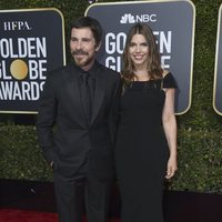 Christian Bale and Sibi Blazic at the Golden Globes 2019 red carpet