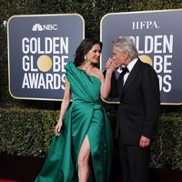Catherine Zeta Jones and Michael Douglas at the Golden Globes 2019 red carpet