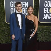 Troye Sivan and Sage Sivan at the Golden Globes 2019 red carpet