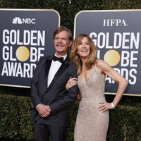 William H. Macy and Felicity Huffman at the Golden Globes 2019 red carpet