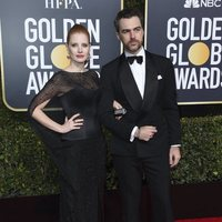 Jessica Chastain and Gian Luca Passi at the Golden Globes 2019 red carpet