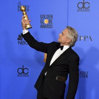 Michael Douglas poses with his Golden Globe