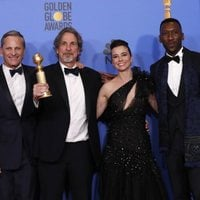 The 'Green Book' crew poses with their Golden Globe