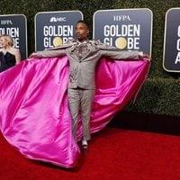 Billy Porter at the Golden Globes 2019 red carpet