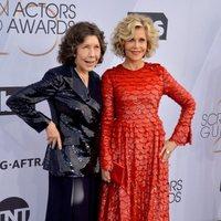 Lily Tomlin and Jane Fonda at the 2019 SAG Awards