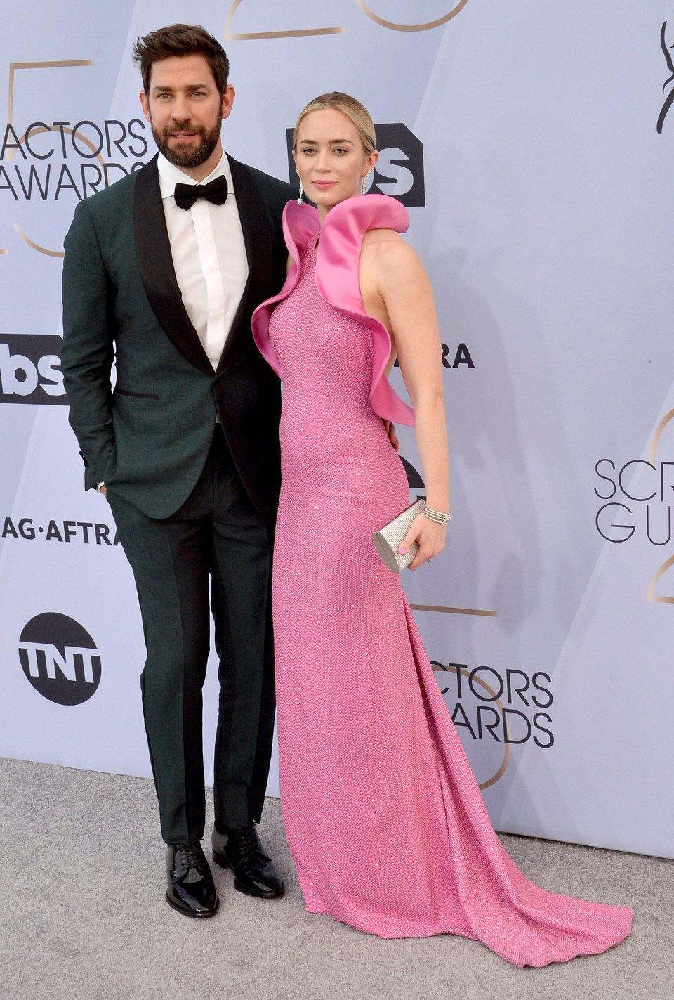 John Krasinski and Emily Blunt at the 2019 SAG Awards