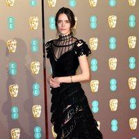 Stacy Martin on BAFTA red carpet