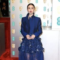 Lily Collins at the BAFTAs 2019 Red Carpet