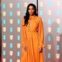 Laura Harrier at the BAFTAs 2019 red carpet
