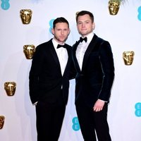 Jamie Bell and Taron Egerton at the BAFTAs 2019 Red Carpet