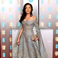 Michelle Yeoh at the BAFTAs 2019 red carpet